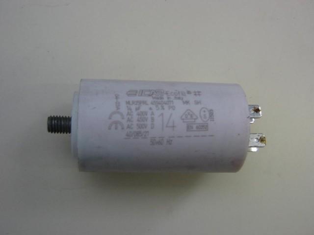 Condensatore lavatrice 14uF 400-500V cod
