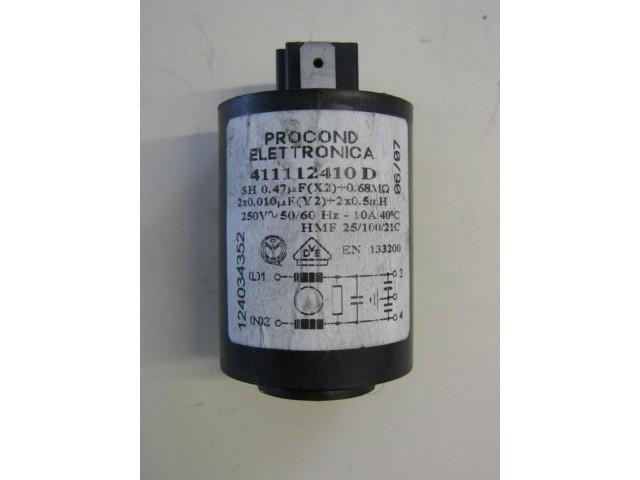 Condensatore lavatrice Zoppas P8 cod 411112410D