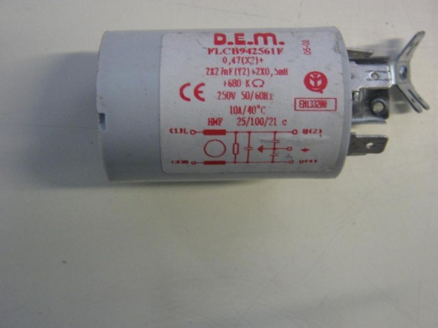 Condensatore lavatrice Ariston ALS89X cod FLCB942561F