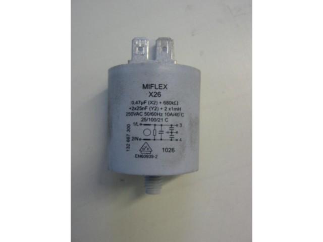 Condensatore lavatrice Rex RWF10095W cod 132667300