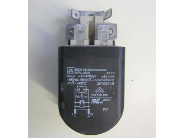 Condensatore lavatrice Siemens WXL751 cod 5500000002
