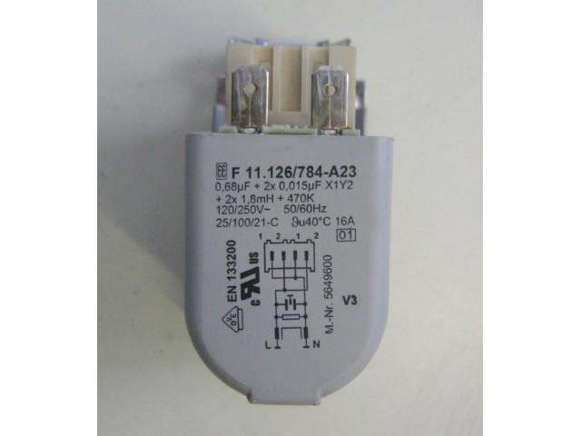 Condensatore lavatrice Miele NOVOTRONIC W1511 cod F 11.126/784-A23