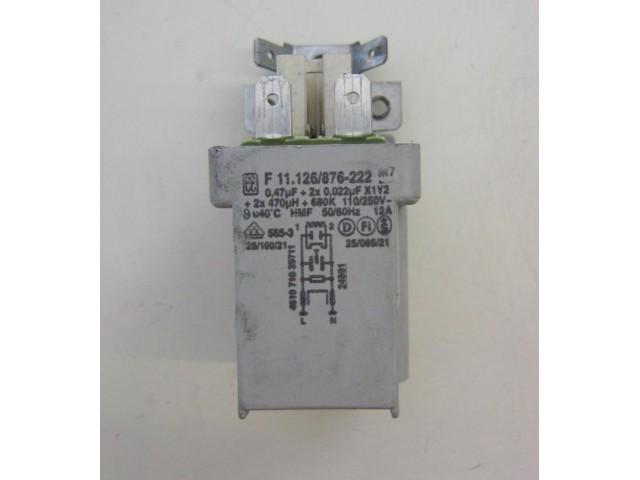 Condensatore lavatrice Whirlpool AWM8103 cod F 11.126/876-222