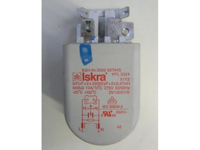 Condensatore lavatrice Bosch WAQ20320IT/01 cod 9000507645