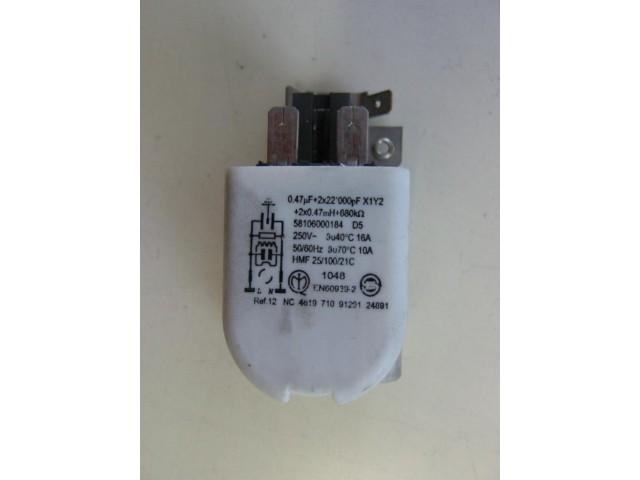 Condensatore lavatrice Ignis LOE1077 cod 461971091291