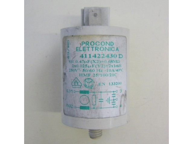 Condensatore lavatrice Rex R60A cod 411422430D