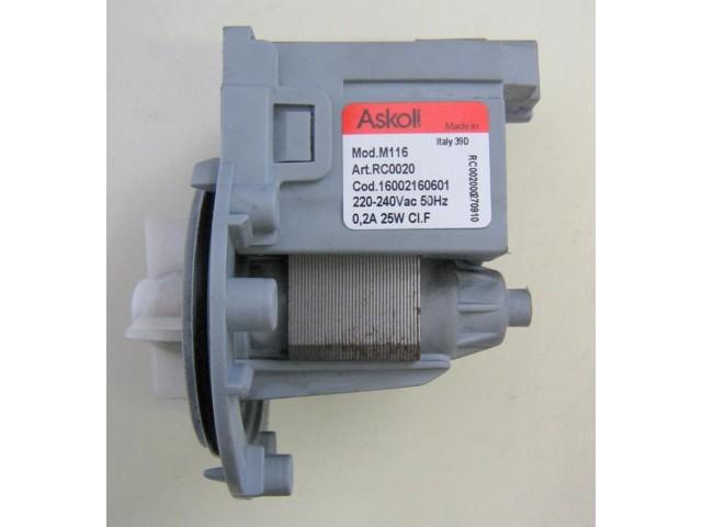 Pompa lavatrice Indesit WISL86 cod 16002160601