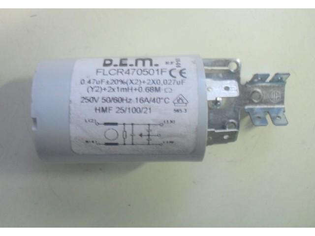 Condensatore lavatrice Sangiorgio SGFT1000 cod FLCR470501F