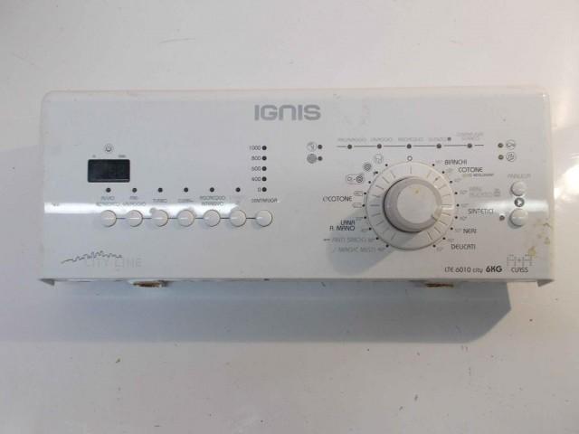 FRONTALE PER LAVATRICE IGNIS LTE 6010 COMPLETO DI SCHEDA COMANDI/DISPLAY COD: 461971403701-02