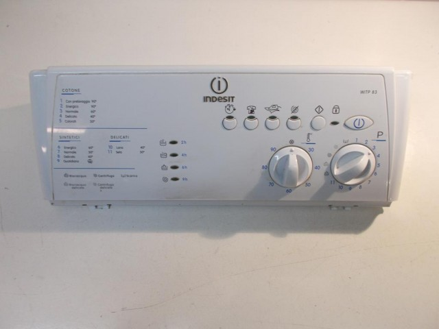 Frontale lavatrice Indesit WITP83 completo di scheda cod 21012605700