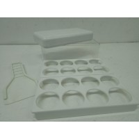 kit accessori 2 portauova + scatola salva freschezza + spatola Hotpoint Ariston Whirlpool Candy Indesit