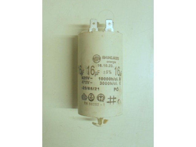 Condensatore lavatrice Elettrozeta LR 600X cod 16.10.23