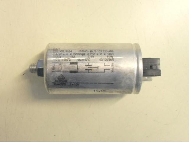 Condensatore lavatrice Bosch WFG2860 cod B 107733 AB9