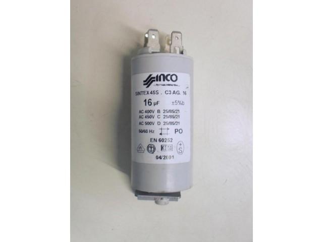 Condensatore lavatrice Ariston AB63IT cod 45S. C3 AG. 16
