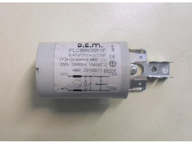 Condensatore lavatrice Wega White WWTL600A  cod FLCB993561F