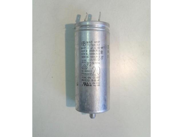 Condensatore lavatrice Bosch WTW86561 cod 420/500 VAC