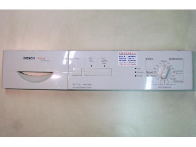 FRONTALE PER LAVATRICE BOSCH WFL1201 II/02   COMPLETO DI SCHEDA COMANDI COD. 5500000803
