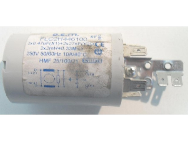 Condensatore lavatrice Smeg SLB1600 cod FLC2H446100