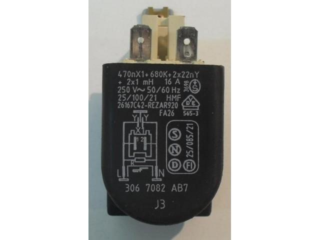 Condensatore lavatrice Bosch WOF1600 cod 3067082AB7