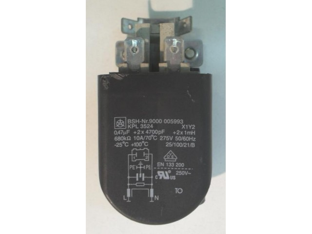 Condensatore lavatrice Bosch FD8511 cod 9000005993