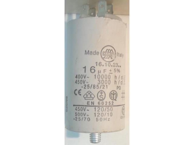 Condensatore lavatrice Indesit W65T cod 16.10.23