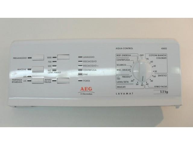 FRONTALE PER LAVATRICE AEG ELECTROLUX L45052 COMPLETO DI SCHEDA COMANDI COD. 132120348