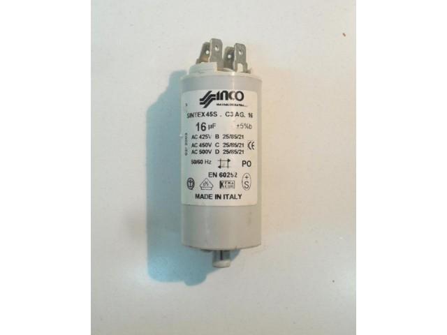 Condensatore lavatrice Indesit W53 cod 45S.C3 AG.16