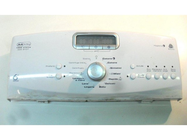 frontale     lavatrice Whirlpool awe 9107 compreso di scheda display 461971404981-01
