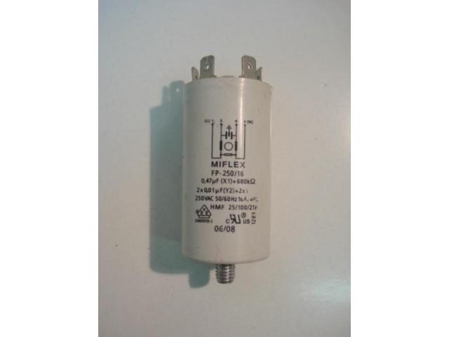 Condensatore lavatrice Smeg LBS106-1 cod fp-250/16