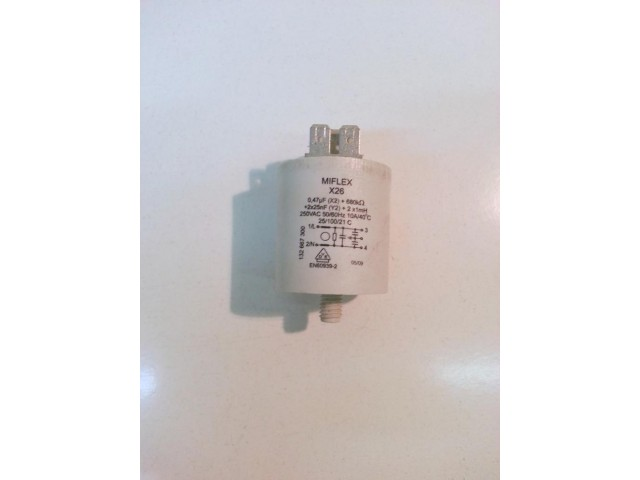Condensatore lavatrice Zoppas p56 cod 132667300