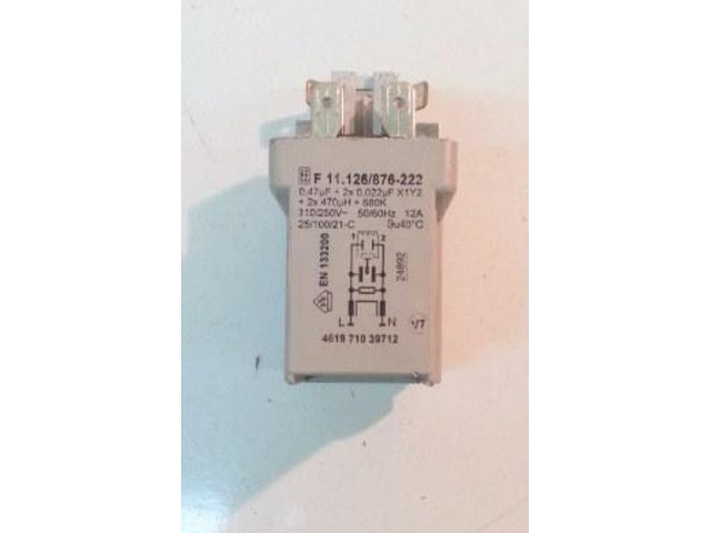 Condensatore lavatrice Whirlpool AWE9107 cod 461971039712