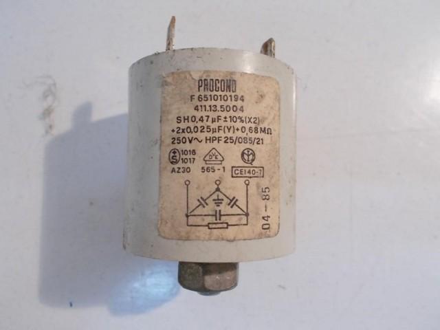 Condensatore lavatrice Zerowatt SC-1  cod 411.13.5004